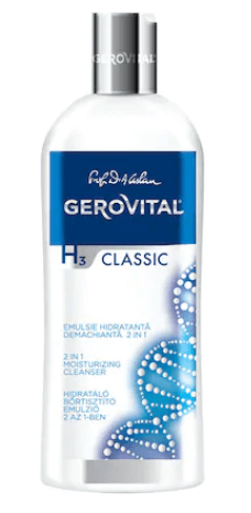 Emulsie hidratanta demachianta Gerovital H3 Classic, 2 in 1