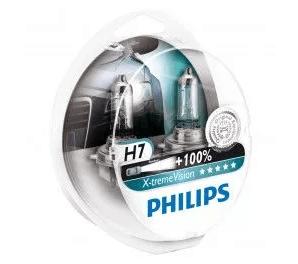 cele mai bune seturi de 2 Becuri auto far halogen Philips H7 X-treme Vision