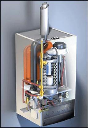 poza interiorul unei centrale termice prin condensare